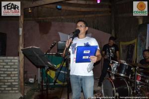 Alessandro Amaral na festa de 1 ano do programa Tear Cultura.