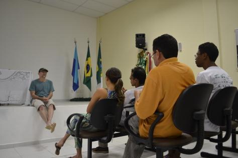 Debate com Tuinho Schwartz começou os trabalhos na Mostra.