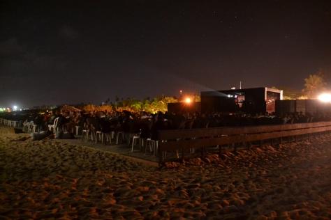 Cinema ao ar livre deixa noites agitadas em Gostoso (Foto: Pedro Corso de Albuquerque
