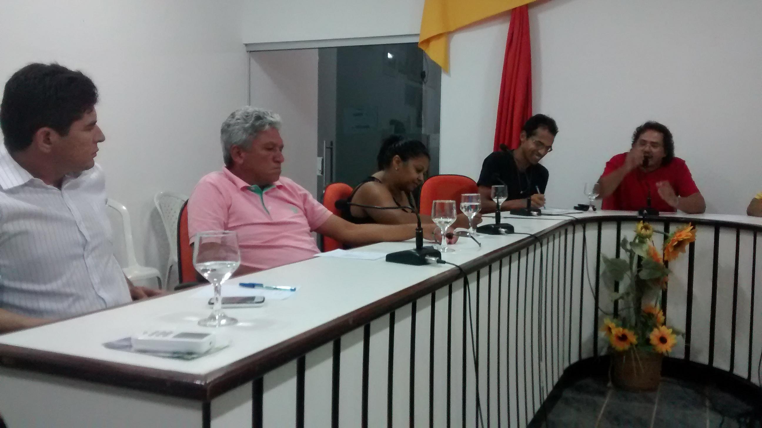 Ricardo André, Micarla Catarina e Beto de Agostinho participaram do evento.