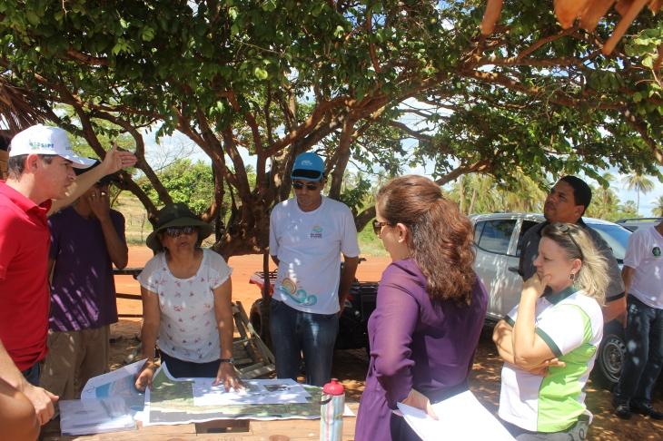 Reunião do Orla junto com promotora (Foto: Fernando Miranda).