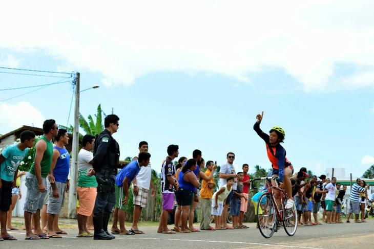 Chegada de Maxsuel no ciclismo (Foto: Ariclenes Silva)
