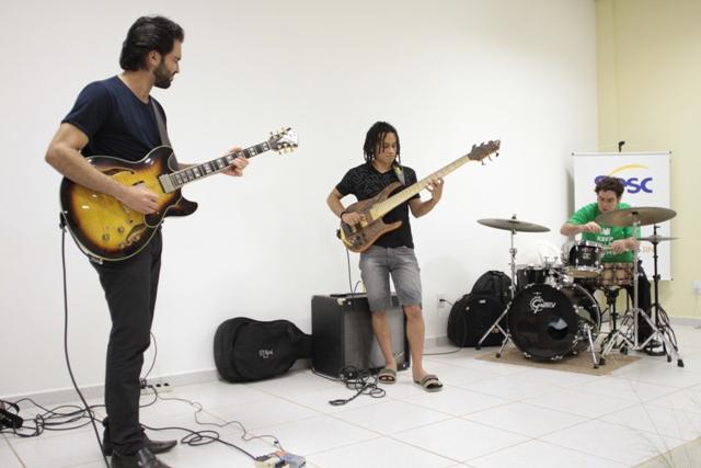 BR Trio no workshop (Foto: Rogério Vital)