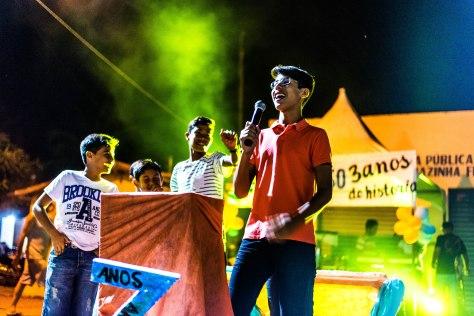 João Marcelo discursa (Foto: Ariclenes Silva).