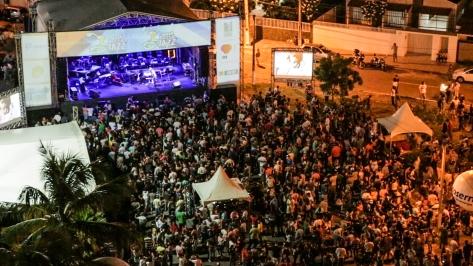 Imagem aérea do Palco Cidade do Sol em Natal.