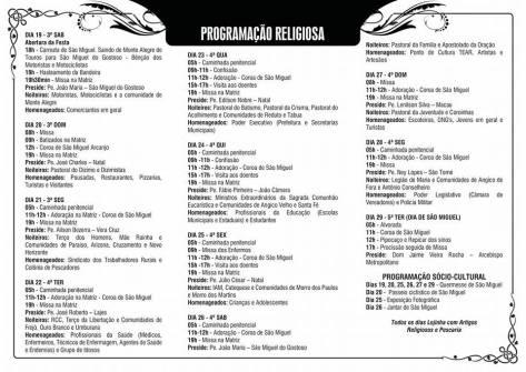 Fonte: Paróquia de São Miguel Arcanjo