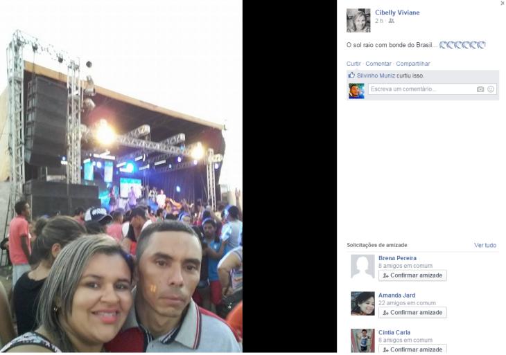 Cibelly Viviane registrou Bonde do Brasil