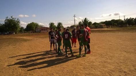 Confraternização do Fluminense antes da partida.