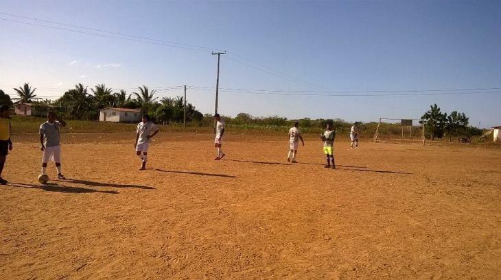 Início do jogo CSC x Fluminense