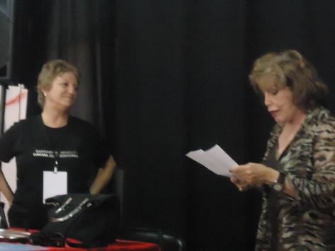 Ana Maria Cascudo (à direita) participou da Mostra de Cinema em 2013.