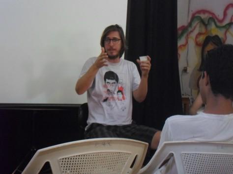 Debate com Pedro Severien em 2013.