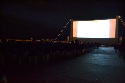 Bela paisagem do cinema ao ar livre em Gostoso.