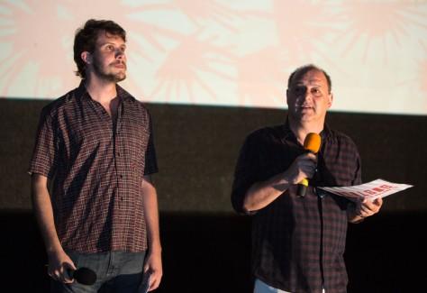 Idealizadores da Mostra de Cinema de Gostoso, Matheus Sundfeld e Eugênio Puppo. (Foto: Aline Arruda)