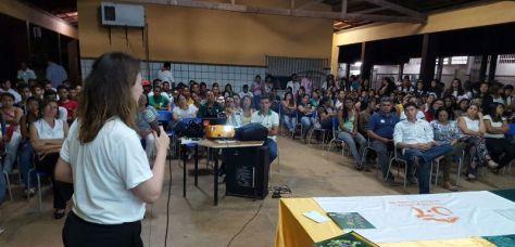 Tânia Patricio na apresentação do Probec.