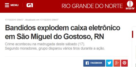 G1 noticiou a ação com relato de moradora.