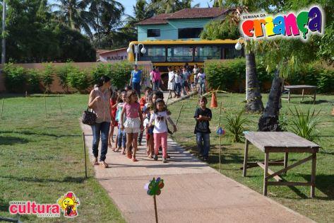 Criançada compareceu no Centro de Cultura.