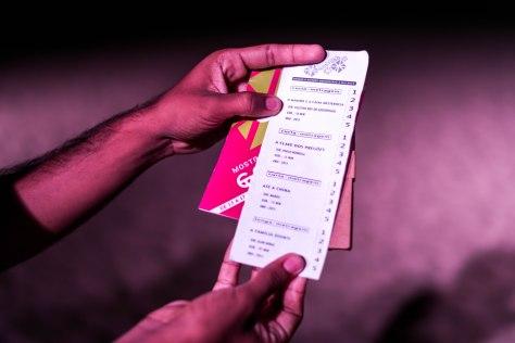 Cédulas de votação para a Mostra Competitiva.