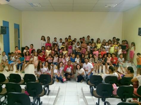Alunos das Escolas Municipais do município se animaram com a Mostra.