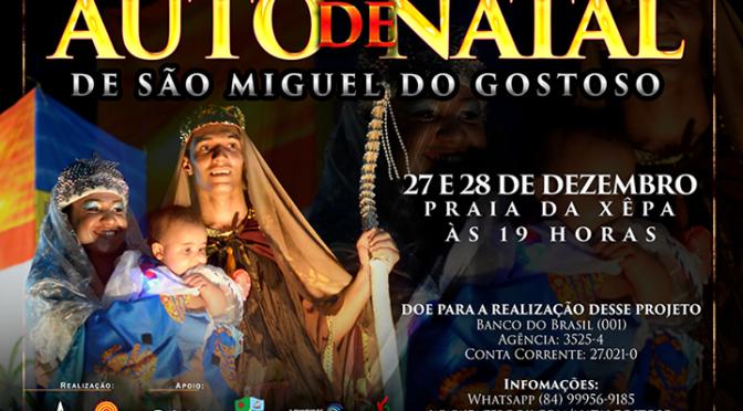AUTO DE NATAL DE GOSTOSO MANTÊM ALGUNS ATORES, CENÁRIOS E O MESMO ENTUSIAMO PARA EDIÇÃO DE 2015