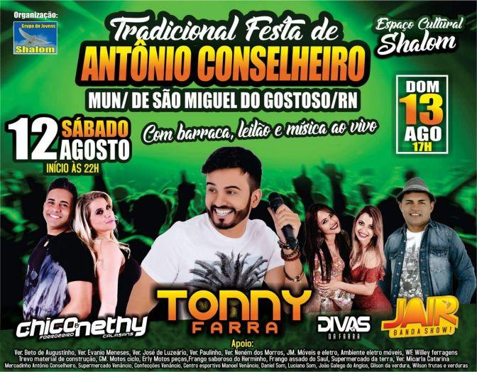 APÓS CANCELAR BONDE DO BRASIL, FESTA DO ANTÔNIO CONSELHEIRO TERÁ TONNY FARRA