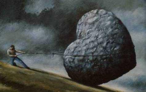 ilustrac25cc25a7a25cc2583o-de-homem-carregando-corac25cc25a7a25cc2583o-de-pedra