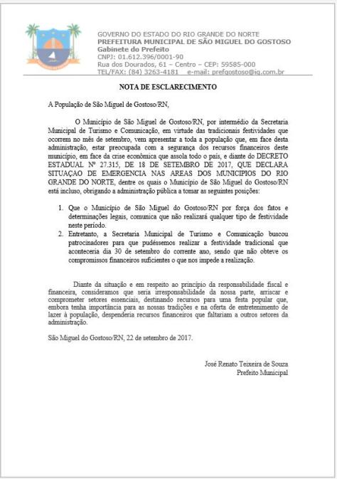 comunicado oficial prefeitura smg