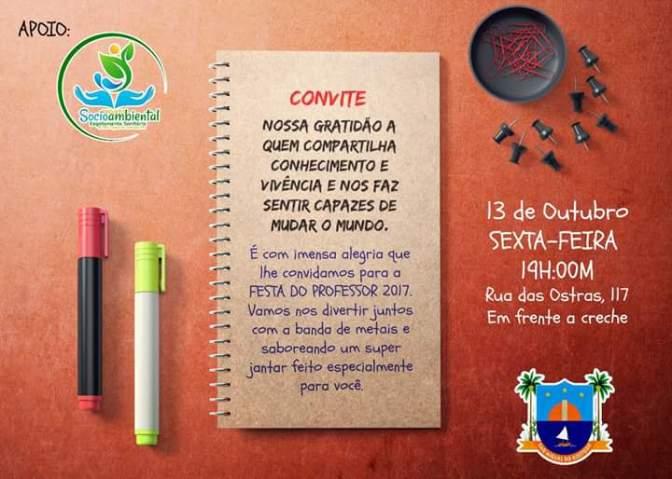 SÃO MIGUEL DO GOSTOSO TERÁ PONTO FACULTATIVO E JANTAR PARA PROFESSORES NESTA SEXTA-FEIRA (13)