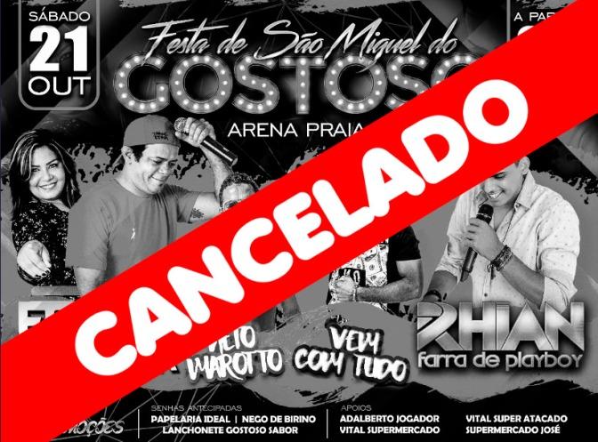 PELA SEGUNDA VEZ, FESTA TRADICIONAL DE GOSTOSO É CANCELADA