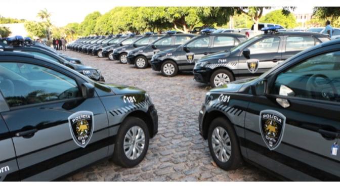 GOVERNADOR ROBINSON FARIA ENTREGA 30 VIATURAS PARA DELEGACIAS DO INTERIOR