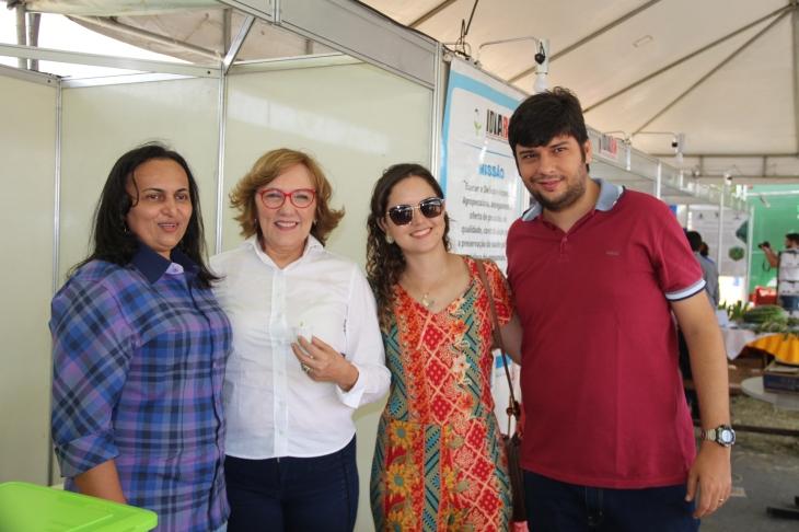 Zenaide Maia na ExpoNovos com o prefeito Odon Júnior