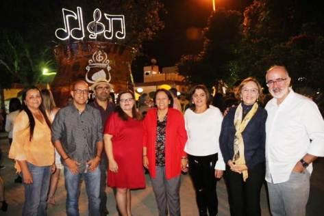Zenaide Maia e Fátima Bezerra em Martins