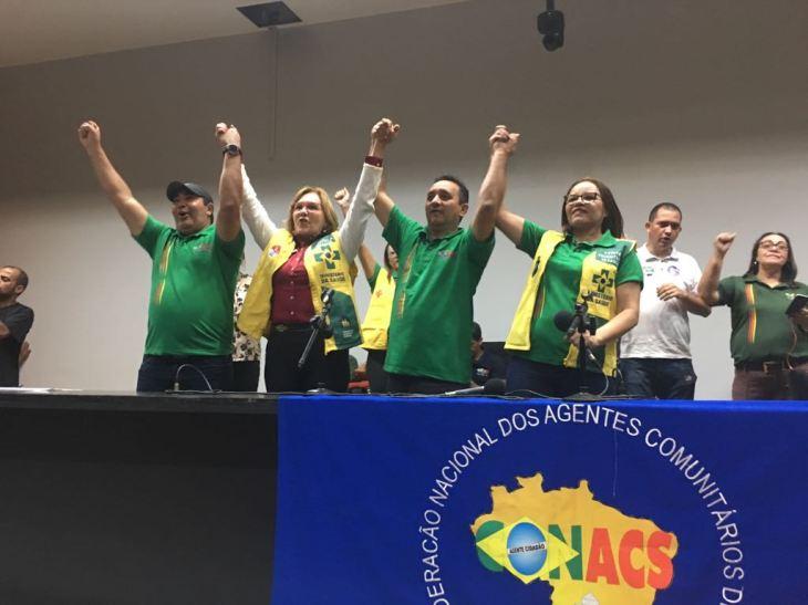 Zenaide com Agentes de Saúde em Brasília