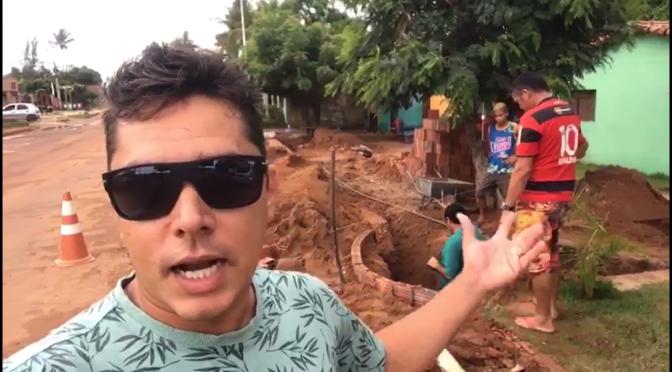"IDEALIZADOR DO PROTESTO DA ""BANANEIRA"" FAZ VÍDEO E AGRADECE POR OBRA QUE EVITA ALAGAMENTO"