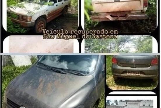 POLÍCIA MILITAR DE SÃO MIGUEL DO GOSTOSO LOCALIZA 2 VEÍCULOS ROUBADOS