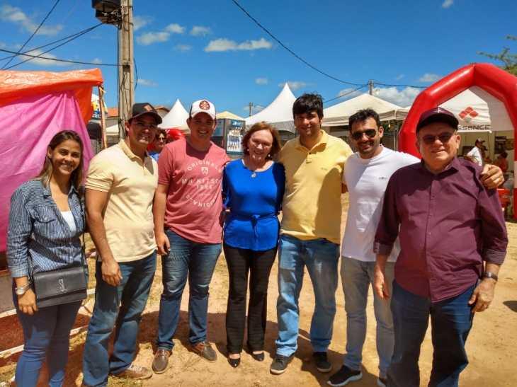 Zenaide em Currais novos com o prefeito, Jaime Calado e amigos